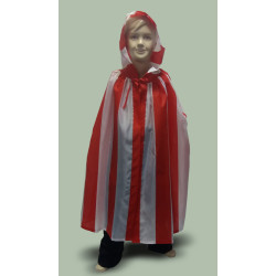 Karnevalový kostým Plášť pruhovaný - plášť s kapucí