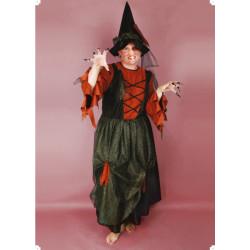 Karnevalový kostým ČARODĚJNICE II - šaty, klobouk