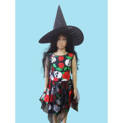 Karnevalový kostým Malá čarodějnice                                                                šaty, pytlíček