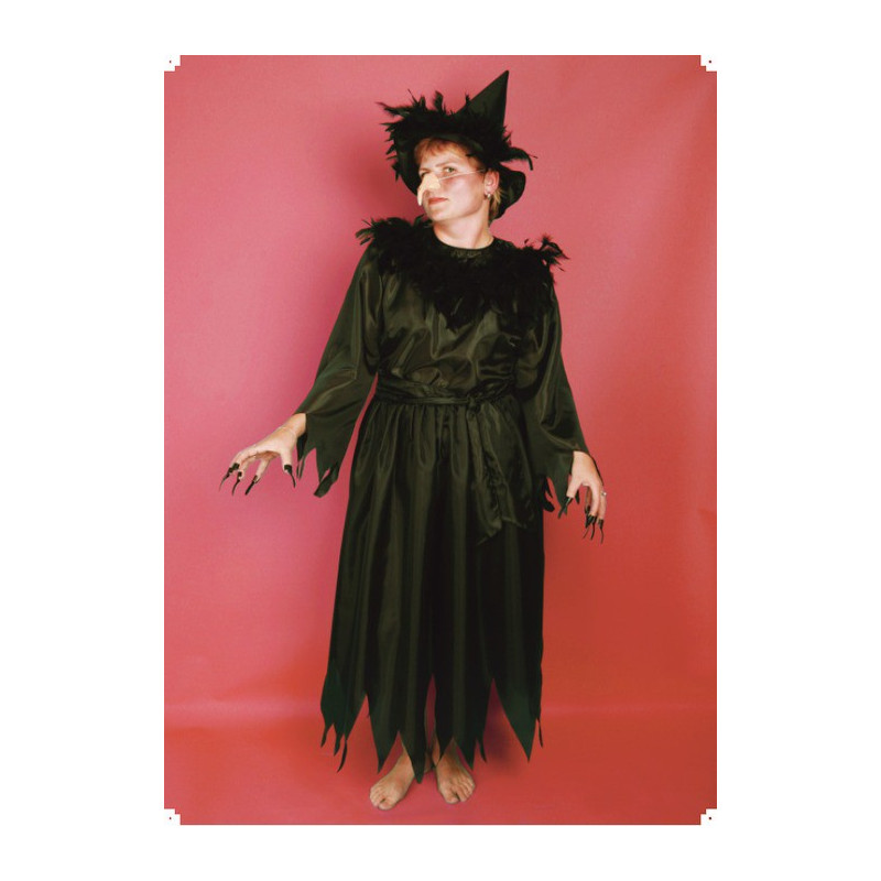 Karnevalový kostým ČARODĚJNICE III - šaty, klobouk