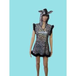 Karnevalový kostým Zebra                                                                                     šaty s kapucí