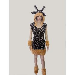 Karnevalový kostým Žirafa                                                                               šaty,kapuce,návleky