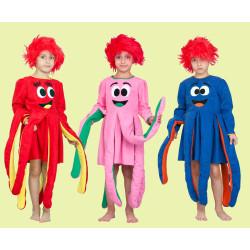 Karnevalový kostým Chobotnice červená