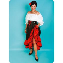 Karnevalový kostým ŠPANĚLKA - sukně, horní díl, pásek