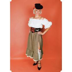 Karnevalový kostým WESTERN LADY - sukně, horní díl