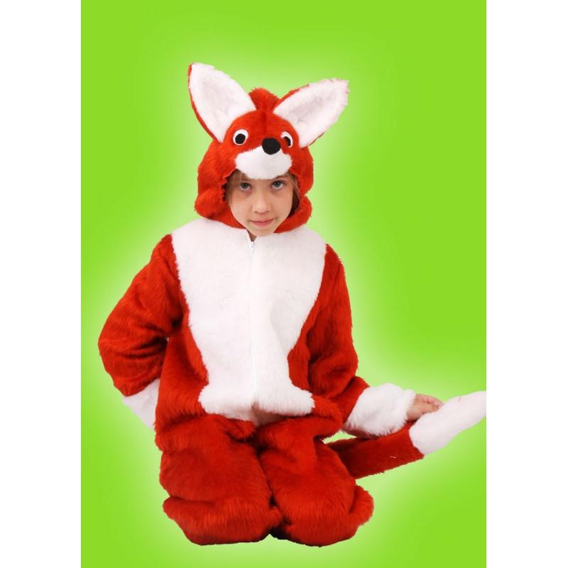 Dětský karnevalový kostým LIŠKA - kombinéza s kapucí