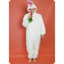 Karnevalový kostým ZAJÍC - kombinéza, kapuce